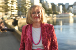 Sue Kedgley at the Wellington waterfront at Oriental Bay